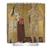 Saints Fabian And Sebastian Shower Curtain