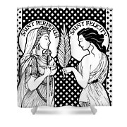 Saints Perpetua And Felicity Shower Curtain