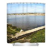 Salt Marshes - Trapani Salt Flats Shower Curtain