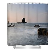 Saltwick Bay Shower Curtain