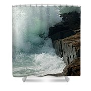 Salty Froth Shower Curtain