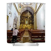 San Felipe De Jesus Satelite Shower Curtain
