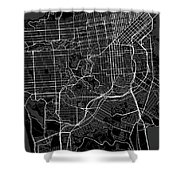 San Francisco California Usa Dark Map Shower Curtain