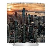 San Francisco Financial District Skyline Shower Curtain
