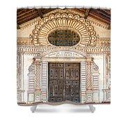 San Javier Church Facade Shower Curtain