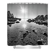 Sand Harbor Star Shower Curtain