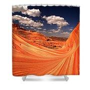 Sandstone Wave Curl Shower Curtain