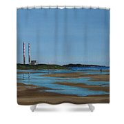 Sandymount Strand Shower Curtain
