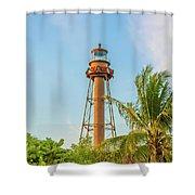 Sanibel Lighthouse Shower Curtain