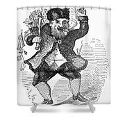 Santa Claus, 1849 Shower Curtain