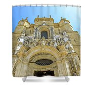 Santa Cruz Monastery Facade Shower Curtain