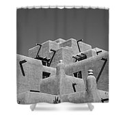 Santa Fe - Adobe Building Shower Curtain