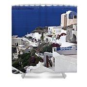 Santorini Overview Shower Curtain