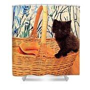 Sassy Cat Shower Curtain