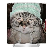 Sassy Sassy Cat Shower Curtain