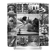 Savannah Collage Black And White Shower Curtain