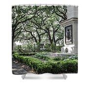 Historic Wright Square - Downtown Savannah Georgia Shower Curtain
