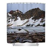 Sawtooth Lake Shower Curtain