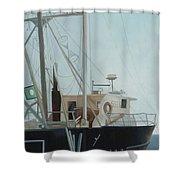 Scallop Boat Shower Curtain