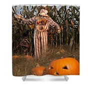 Scarecrow In A Corn Field Shower Curtain