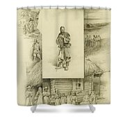 Scenes Of Peasant Life Shower Curtain