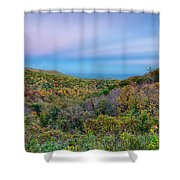 Scenic Blue Ridge Parkway Appalachians Smoky Mountains Autumn La Shower Curtain