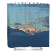 Scenic Ladscape Of Northern Italy Of The Snow Capped Alps  Shower Curtain