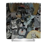 Schnauzers Shower Curtain