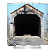 Schofield Ford Covered Bridge Shower Curtain