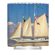 Schooner On Mobile Bay Shower Curtain