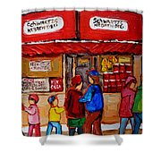 Schwartz's Hebrew Deli Shower Curtain
