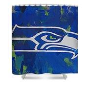 Seahawks Fan Shower Curtain by Candace Shrope