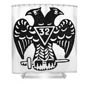 Seal: Freemasonry Shower Curtain