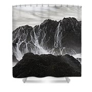 Seal Rocks Waves And Rocks 3 Bw Shower Curtain