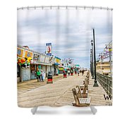 Seaside Boardwalk Shower Curtain
