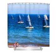 Seaside Fun Shower Curtain