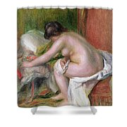 Seated Bather Shower Curtain