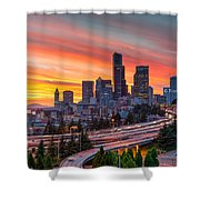 Seattle On Firer Shower Curtain