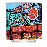 Seattle Public Market Shower Curtain