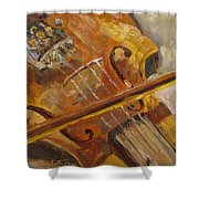 Secondhand Violin Shower Curtain