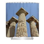 Segesta Greek Temple In Sicily, Italy Shower Curtain