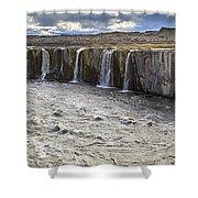 Selfoss Waterfall Shower Curtain