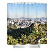 Seoul City Wall From Inwangsan Mountain In South Korea Capital C Shower Curtain