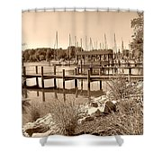 Sepia Waterscape Shower Curtain