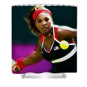 Serena Williams Eye On The Prize Shower Curtain