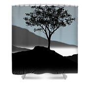 Serene Shower Curtain by Chris Brannen