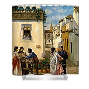 Sevillian Square Shower Curtain