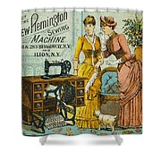 Sewing Machine Ad, C1880 Shower Curtain