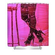 Sexy Legs Pop Art Shower Curtain