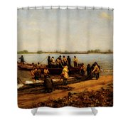 Shad Fishing On The Delaware River Shower Curtain